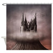 Gothic Castle Ruins Shower Curtain