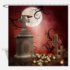 Gothic Tombstone Shower Curtain