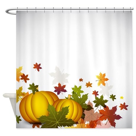 Thanksgiving Pumpkins Shower Curtain By Fantasyartdesigns
