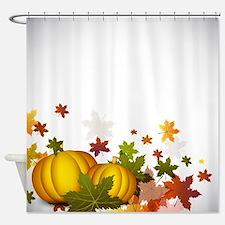 Thanksgiving Pumpkins Shower Curtain