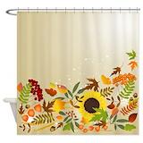 Golden thanksgiving Shower Curtains