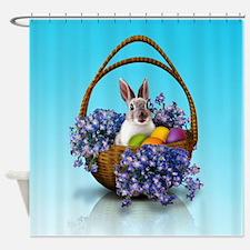 Easter Bunny Basket Shower Curtain