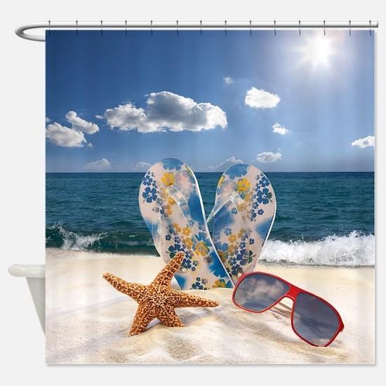 Summer Beach Vacation Shower Curtain
