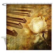 Classic Piano Melody Shower Curtain