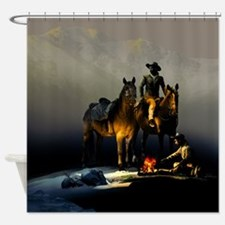 Cowboys and Horses Shower Curtain