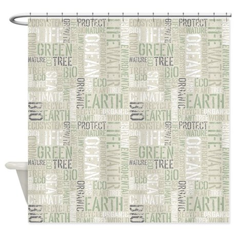 Ecology Words Shower Curtain By Fantasyartdesigns