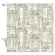 Ecology Words Shower Curtain