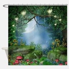 Enchanted Summer Night Shower Curtain
