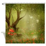 Enchanted summer pond Shower Curtains