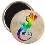 Rainbow Gecko Magnet