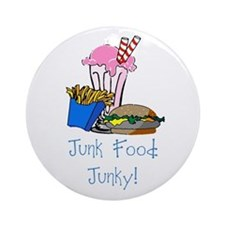 Junk Food Junky Ornament (Round)