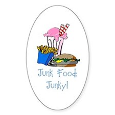 Junk Food Junky Oval Decal