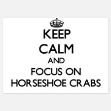 Keep Calm by focusing on Horseshoe Cra Invitations