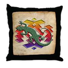 Gecko Southwest Throw Pillow