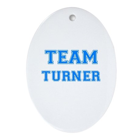 TEAM TURNER Oval Ornament