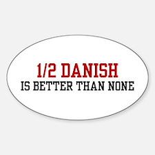 Half Danish Oval Decal