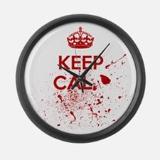 Keep Calm Blood Large Wall Clock