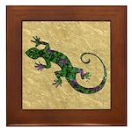 Ivy Green Gecko Framed Tile