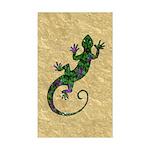 Ivy Green Gecko Sticker (Rectangle)