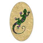 Ivy Green Gecko Sticker (Oval)