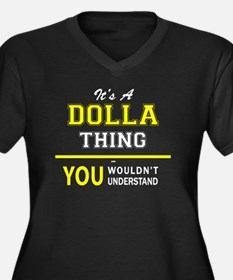 Cool Dolla Women's Plus Size V-Neck Dark T-Shirt