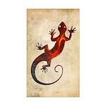 Fire Red Gecko Sticker (Rectangle)