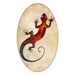 Fire Red Gecko Sticker (Oval)