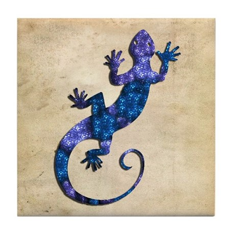 Blue Gecko Tile Coaster
