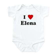 I Love Elena Infant Bodysuit