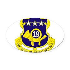 19th Infantry Regiment.png Oval Car Magnet
