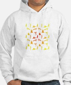 Yoga Positions In Gradient Color Hoodie
