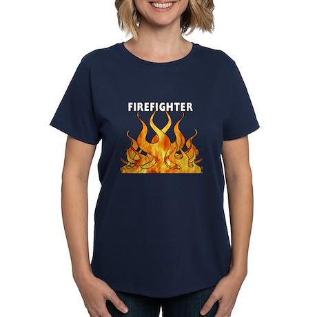 Firefighting Flames Women's Dark T-Shirt