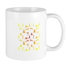 Yoga Positions In Gradient Colors Mugs