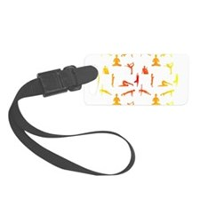 Yoga Positions In Gradient Color Luggage Tag