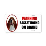 Basset Hound On Board Aluminum License Plate