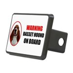 Basset Hound On Board Rectangular Hitch Cover