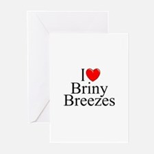 """I Love Briny Breezes"" Greeting Cards (Package of"