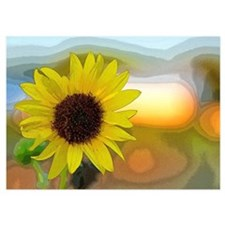 Abstract Sunflower Invitations