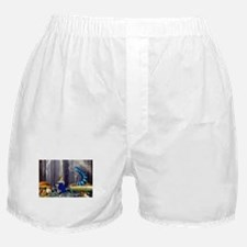 Who Are You? (Blue Caterpillar) Boxer Shorts