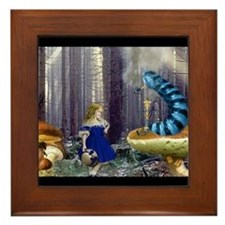 Who Are You? (Blue Caterpillar) Framed Tile