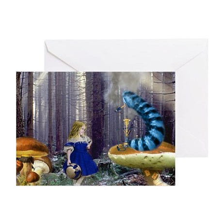 Who Are You? (Blue Caterpillar) Greeting Cards (Pk