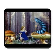 Who Are You? (Blue Caterpillar) Mousepad