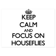 Keep Calm by focusing on Houseflies Invitations