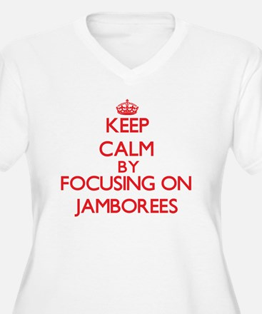 Keep Calm by focusing on Jambore Plus Size T-Shirt