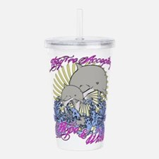 Dolphin Tail 2 Acrylic Double-wall Tumbler