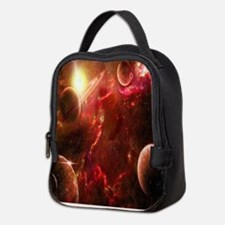 Red Solar System Neoprene Lunch Bag