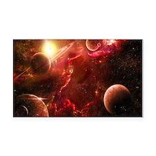 Red Solar System Rectangle Car Magnet