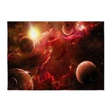 Red Solar System 5'x7'Area Rug