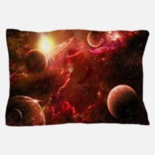 Red Solar System Pillow Case