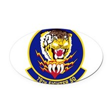 79th_fighter_sq.png Oval Car Magnet